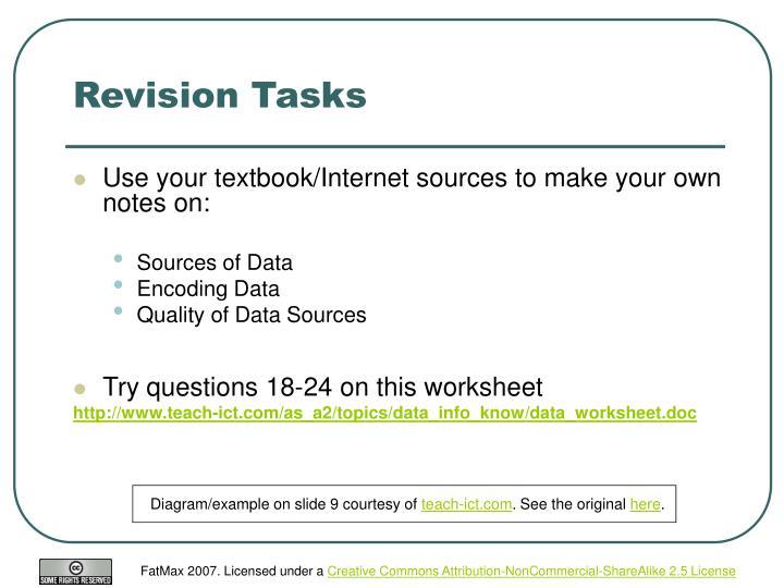 Revision Tasks