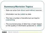 summary revision topics