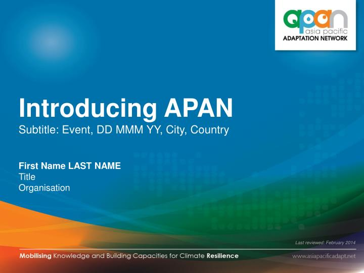 Introducing APAN