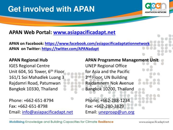 Get involved with APAN