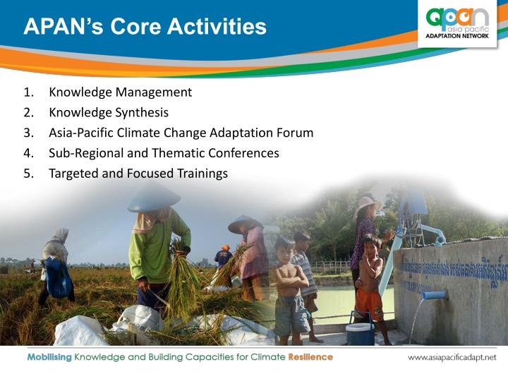 APAN's Core Activities