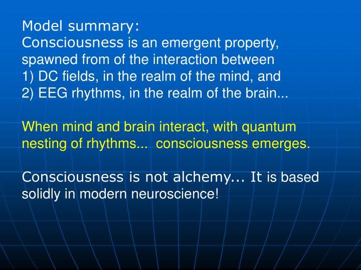 Model summary: