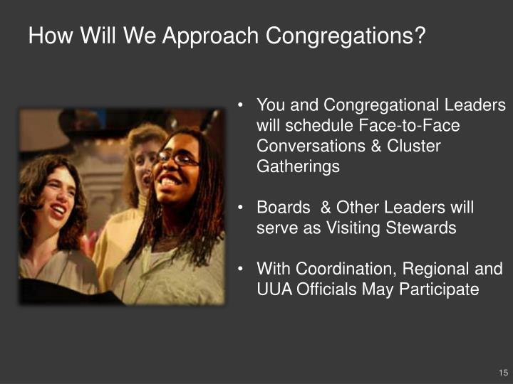 How Will We Approach Congregations?
