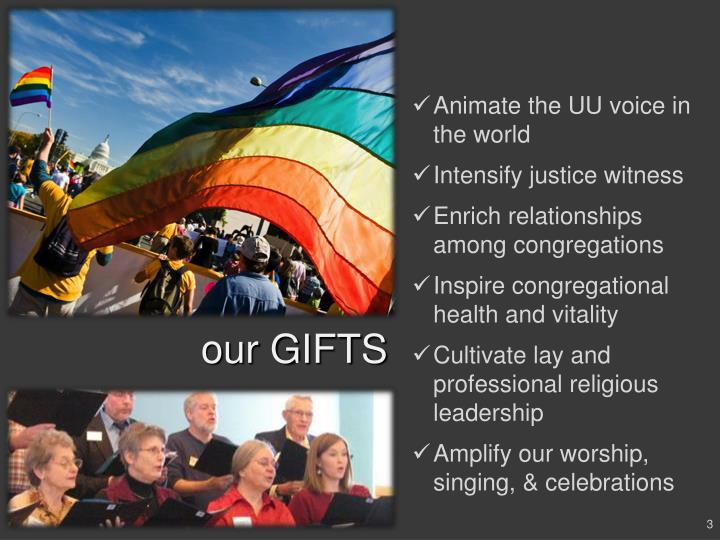 Animate the UU voice in the world