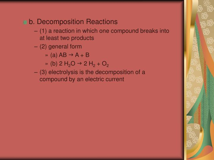 b. Decomposition Reactions