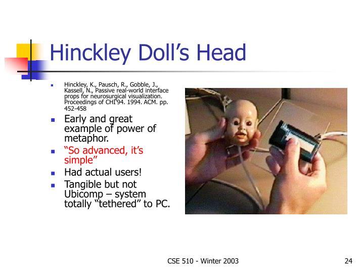 Hinckley Doll's Head