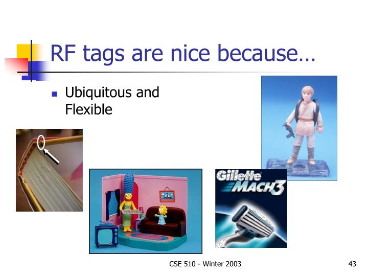 RF tags are nice because…