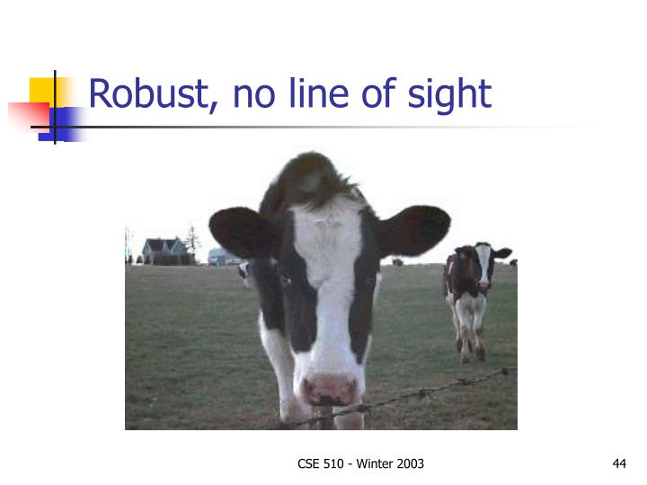 Robust, no line of sight