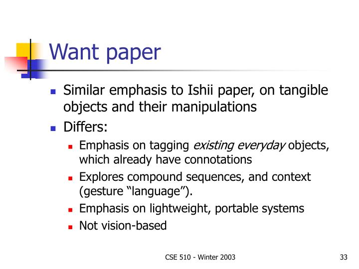 Want paper