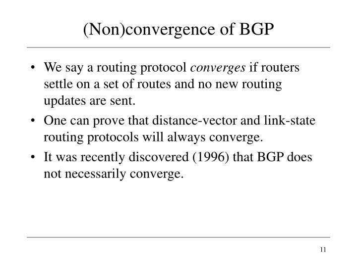(Non)convergence of BGP