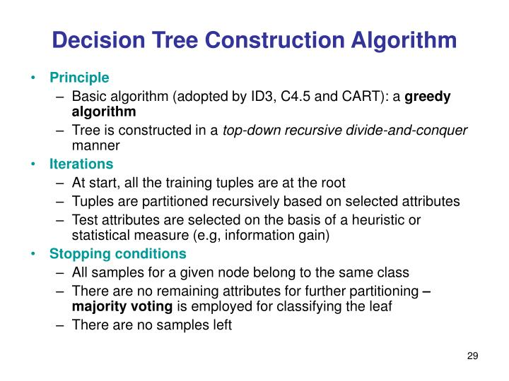 Decision Tree Construction Algorithm