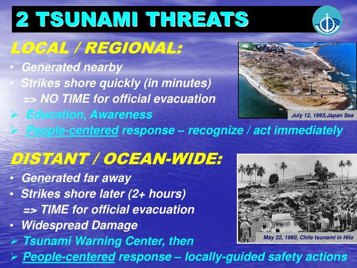 2 TSUNAMI THREATS