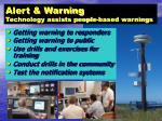 alert warning technology assists people based warnings