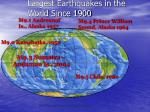 largest earthquakes in the world since 1900