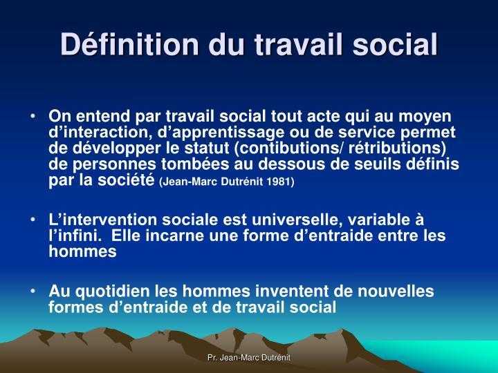 Définition du travail social