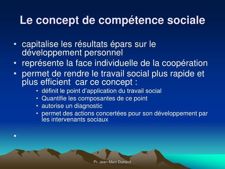 Le concept de compétence sociale