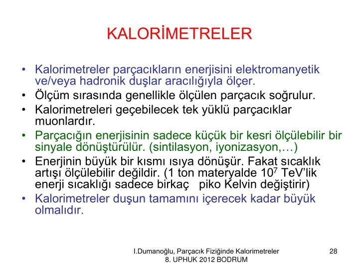KALORİMETRELER