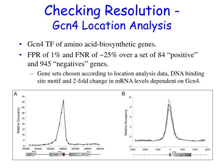Checking Resolution -