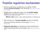 possible regulation mechanisms