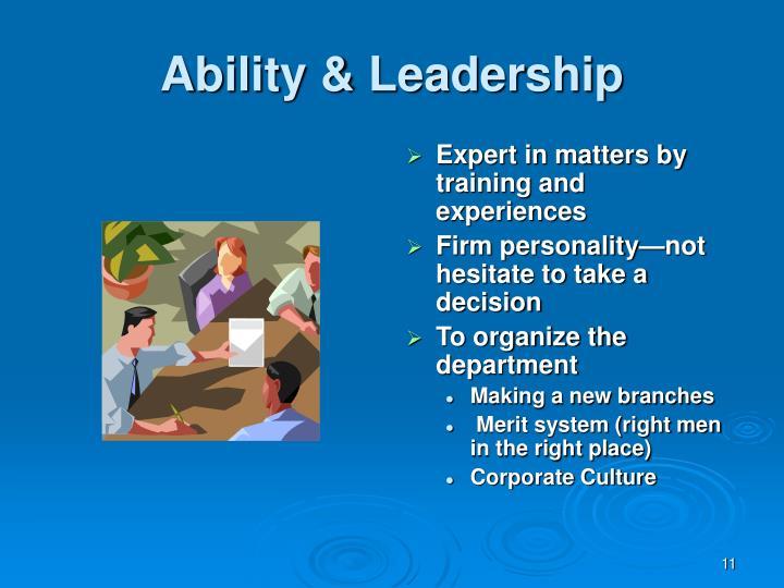 Ability & Leadership