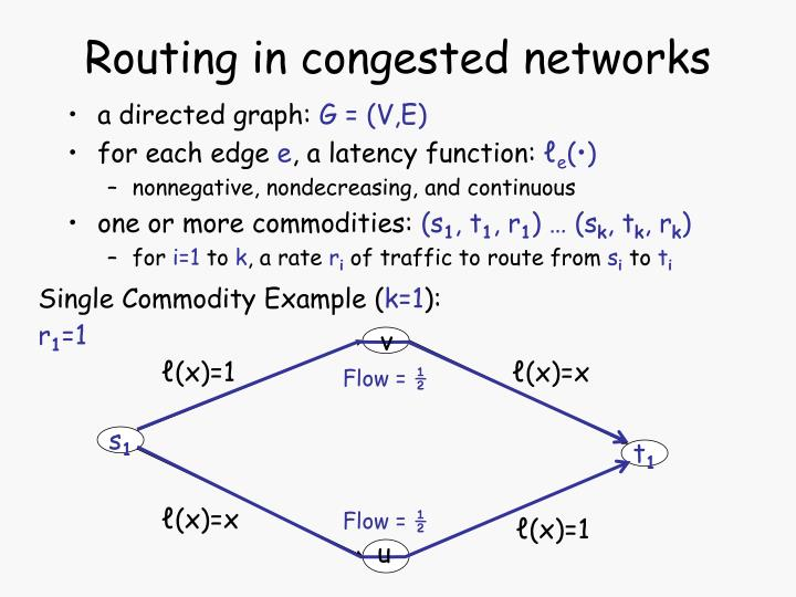 Routing in congested networks
