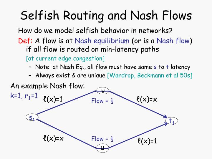 Selfish Routing and Nash Flows