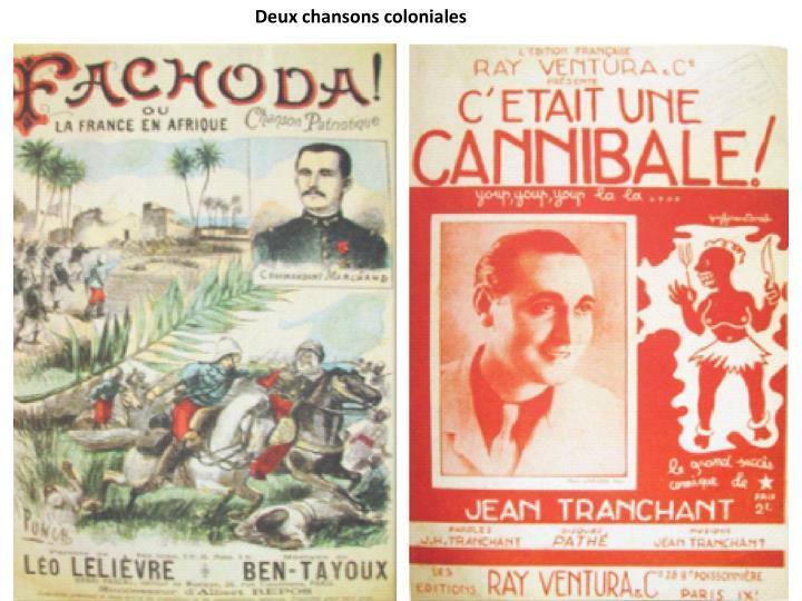 Deux chansons coloniales