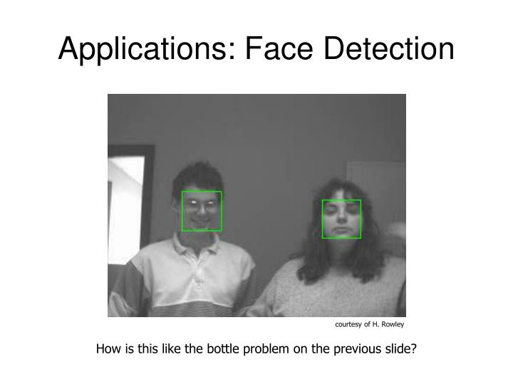 Applications: Face Detection