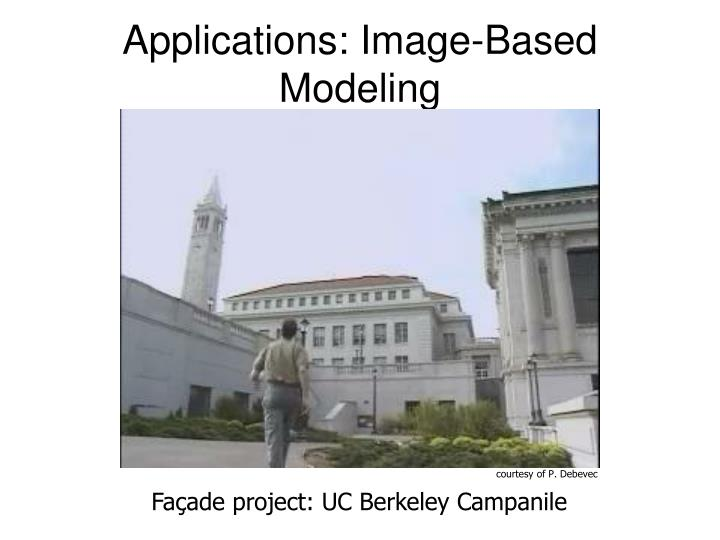 Applications: Image-Based Modeling