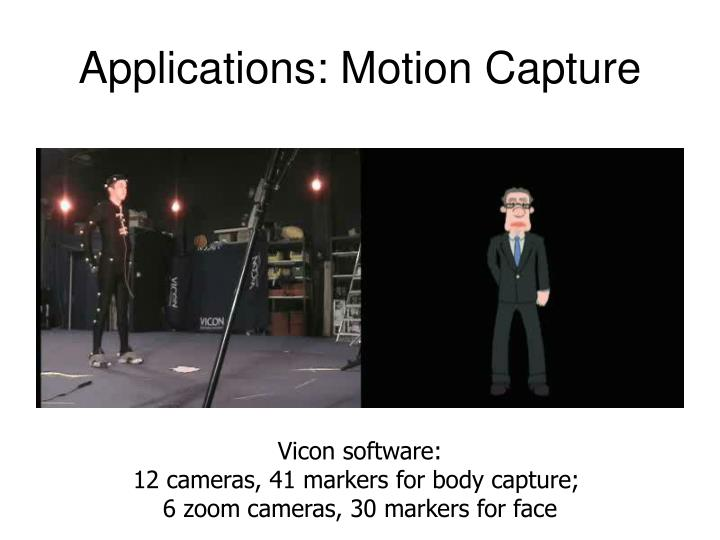 Applications: Motion Capture