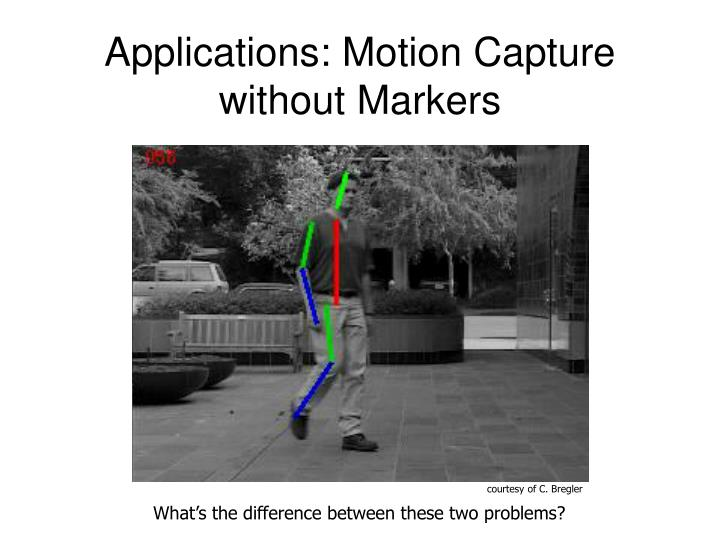 Applications: Motion Capture without Markers