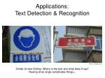 applications text detection recognition