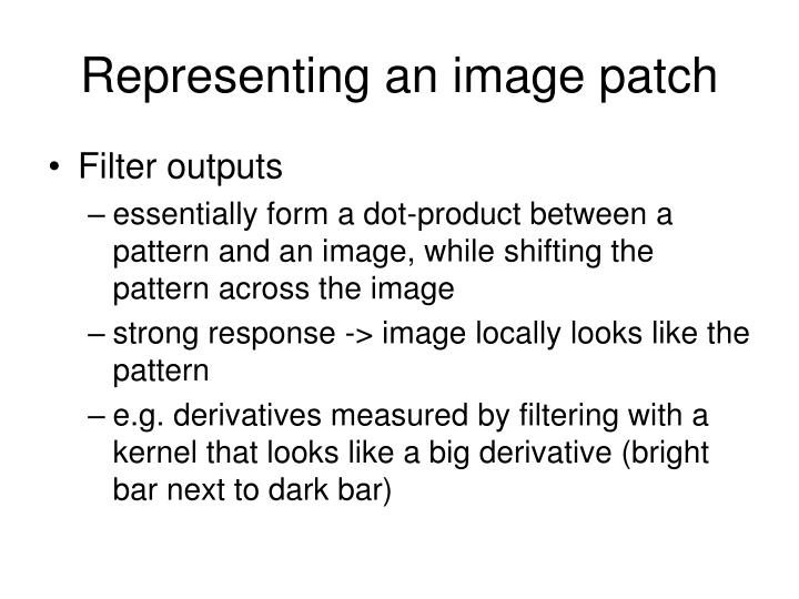 Representing an image patch