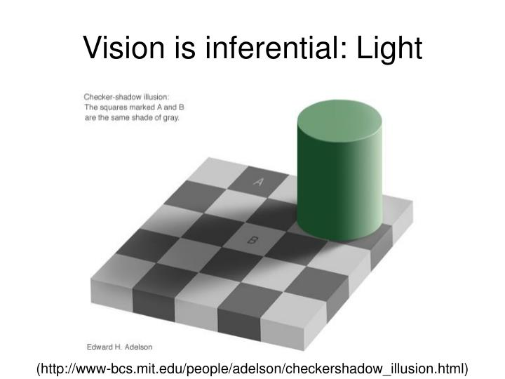 Vision is inferential: Light