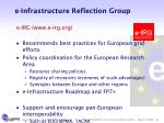 e infrastructure reflection group