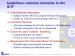 guidelines common elements in the igtf