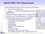 march 2003 the tokyo accord