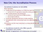 new cas the accreditation process