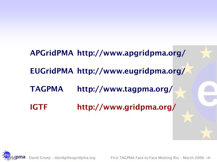 APGridPMAhttp://www.apgridpma.org/