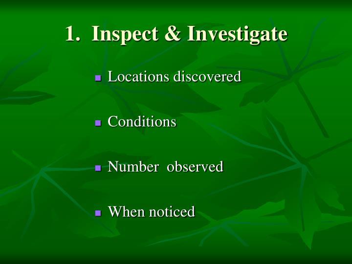 1.  Inspect & Investigate