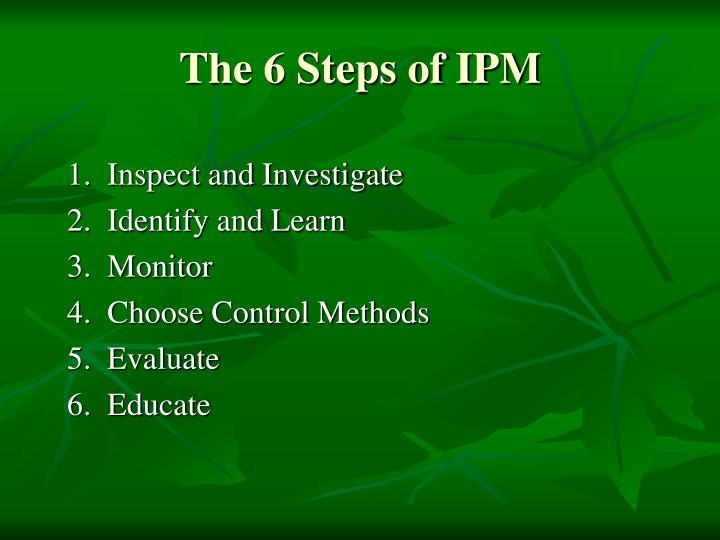 The 6 Steps of IPM