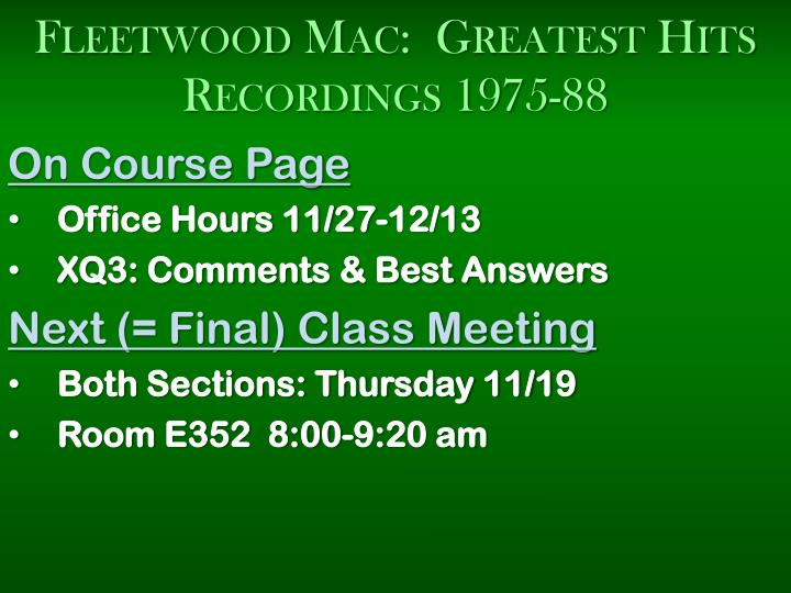 Fleetwood mac greatest hits recordings 1975 88