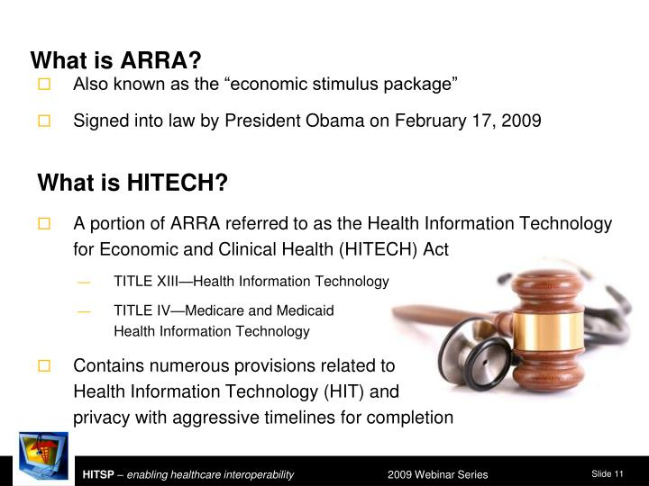 What is ARRA?