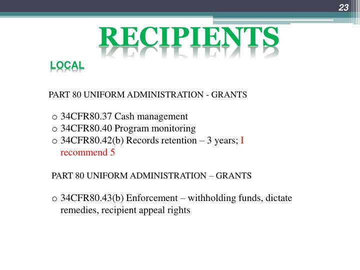 recipients