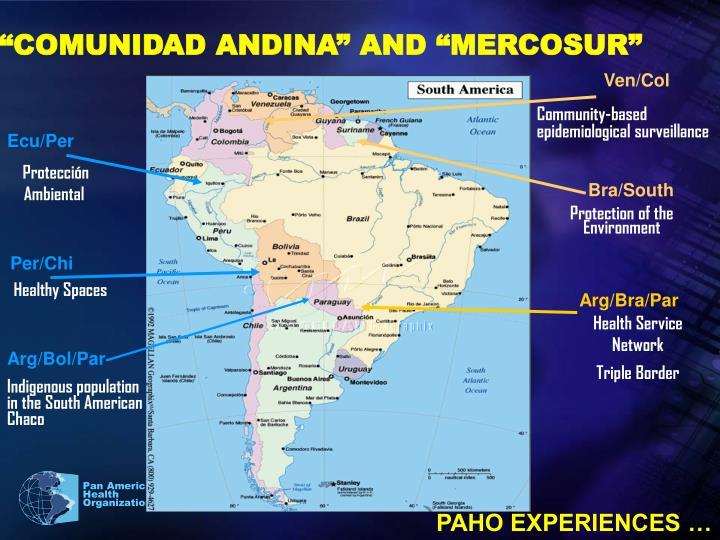 """COMUNIDAD ANDINA"" AND ""MERCOSUR"""
