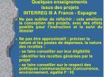 quelques enseignements issus des projets interreg iii a france espagne1