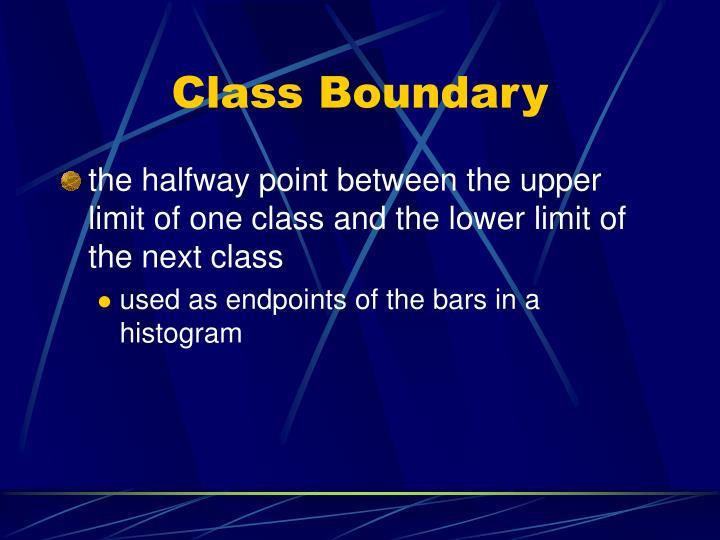 Class Boundary