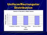 uniform rectangular distribution