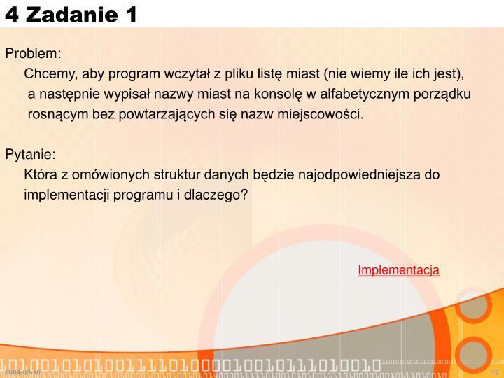 4 Zadanie 1