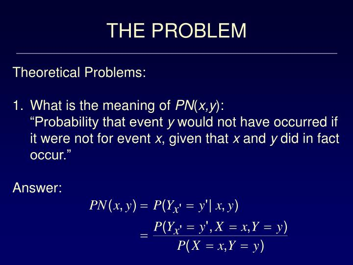 THE PROBLEM